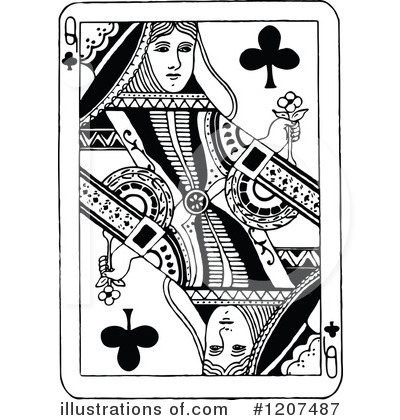 Playing card clipart 1207487 illustration by prawny vintage for Playing cards coloring pages