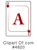 Royalty-Free (RF) playing card Clipart Illustration #4820