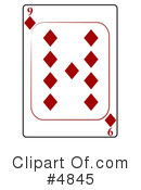 Royalty-Free (RF) Playing Card Clipart Illustration #4845