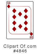 Royalty-Free (RF) Playing Card Clipart Illustration #4846