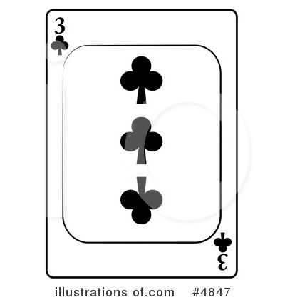 Royalty-Free (RF) Playing Card Clipart Illustration by djart - Stock Sample #4847