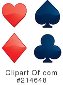 Royalty-Free (RF) Playing Card Suit Clipart Illustration #214648