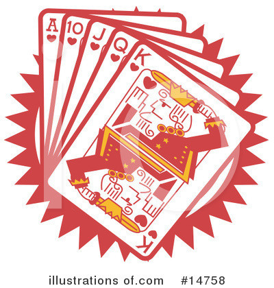 Royalty-Free (RF) Playing Cards Clipart Illustration by Andy Nortnik - Stock Sample #14758