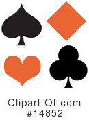 Royalty-Free (RF) Playing Cards Clipart Illustration #14852