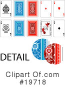 Playing Cards Clipart #19718 by AtStockIllustration
