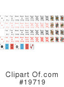 Playing Cards Clipart #19719 by AtStockIllustration