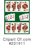 Royalty-Free (RF) playing cards Clipart Illustration #231911