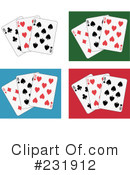 Royalty-Free (RF) playing cards Clipart Illustration #231912