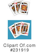 Royalty-Free (RF) playing cards Clipart Illustration #231919