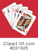 Royalty-Free (RF) playing cards Clipart Illustration #231925