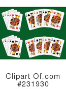 Royalty-Free (RF) playing cards Clipart Illustration #231930