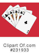 Royalty-Free (RF) playing cards Clipart Illustration #231933