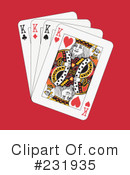 Royalty-Free (RF) playing cards Clipart Illustration #231935