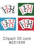 Royalty-Free (RF) playing cards Clipart Illustration #231936