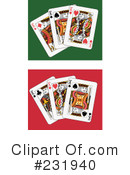 Royalty-Free (RF) playing cards Clipart Illustration #231940