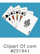 Royalty-Free (RF) playing cards Clipart Illustration #231941