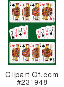 Royalty-Free (RF) playing cards Clipart Illustration #231948