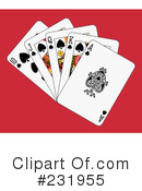 Royalty-Free (RF) playing cards Clipart Illustration #231955