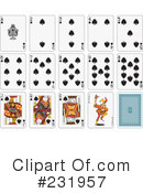 Royalty-Free (RF) playing cards Clipart Illustration #231957