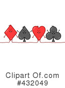 Royalty-Free (RF) Playing Cards Clipart Illustration #432049