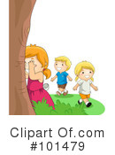 Royalty-Free (RF) playing Clipart Illustration #101479