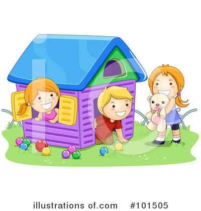 Royalty-Free (RF) Playing Clipart Illustration by BNP Design Studio - Stock Sample #101505