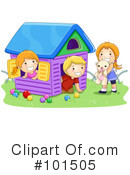 Royalty-Free (RF) playing Clipart Illustration #101505