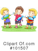 Royalty-Free (RF) playing Clipart Illustration #101507