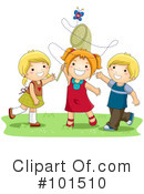 Royalty-Free (RF) Playing Clipart Illustration #101510