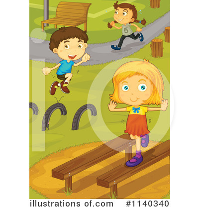 Obstacle Course Clipart #1140340 by Graphics RF