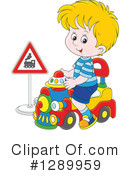 Royalty-Free (RF) Playing Clipart Illustration #1289959