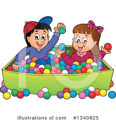 Royalty-Free (RF) Playing Clipart Illustration by visekart - Stock Sample #1340825