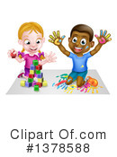 Playing Clipart #1378588 by AtStockIllustration