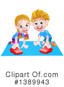 Playing Clipart #1389943 by AtStockIllustration