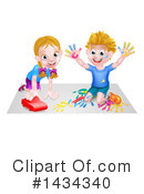 Playing Clipart #1434340 by AtStockIllustration