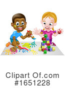 Playing Clipart #1651228 by AtStockIllustration