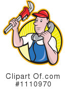 Royalty-Free (RF) plumber Clipart Illustration #1110970