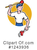 Plumber Clipart #1243936 by patrimonio