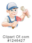 Royalty-Free (RF) Plumber Clipart Illustration #1246427