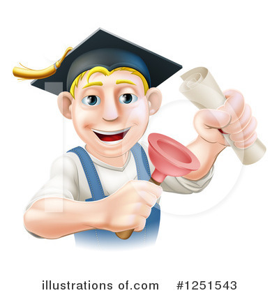 Graduate Clipart #1251543 by AtStockIllustration