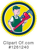Plumber Clipart #1261240 by patrimonio