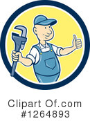 Plumber Clipart #1264893 by patrimonio