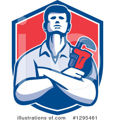 Royalty-Free (RF) Plumber Clipart Illustration by patrimonio - Stock Sample #1295461