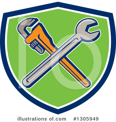 Plumber Clipart #1305949 by patrimonio
