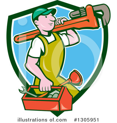 Plumber Clipart #1305951 by patrimonio
