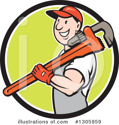 Plumber Clipart #1305959 by patrimonio