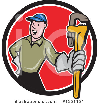 Plumber Clipart #1321121 by patrimonio