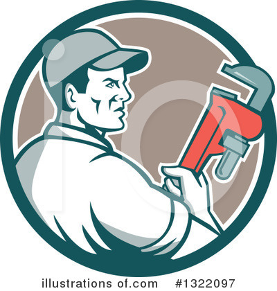 Plumber Clipart #1322097 by patrimonio