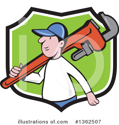 Plumber Clipart #1362507 by patrimonio