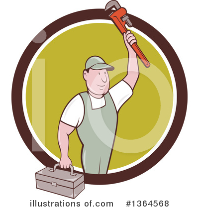 Plumber Clipart #1364568 by patrimonio